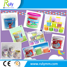 Transparents/clear plastic bucket/pail for toys