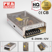 AC/DC CE Single Output 200W 12V 16.5 Amp switched-mode power supply
