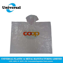 User-friendly biodegradable pure color rain poncho