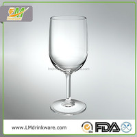 2015 New products best selling eco friendly durable red wine plastic water goblet