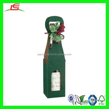 N904 Colorful Boxes Bottle Package, Decor Wine Bottle Gift Box, Single Bottle Box Package with Handle