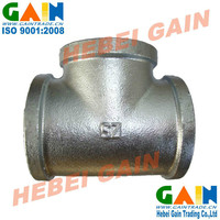 Galvanzied Malleable Iron Pipe Fittings tee/ SZ brand