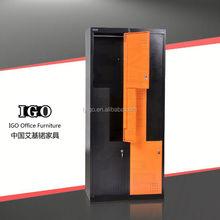 IGO-021 Commercial Furniture china modern design hot sale six door steel locker/cabinet/cupboard