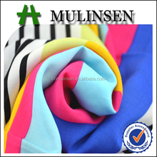 Mulinsen Textile High Quality Woven Stripe Printed 100% Combed Cotton Plain Voile Fabric for Women Garment and Handkerchief