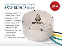 3KW High Power BLDC brushless and gear less motor for electric motorcycle