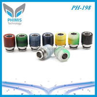 2015 Hot selling acrylic wide bore drip tip 510 wide mouthpiece wholesale delrin drip tip