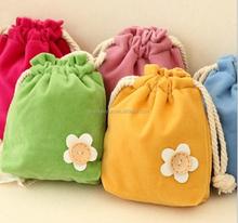 18.5*15.5cm In Stock Drawstring Pouches Jewelry Wedding Velvet Storage Gift Bag Velvet Cosmetic Pouch