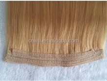 2015 New Style Straight High Quality Hair Flip in Halo Hair Extensions,Fish Line Hair weaving
