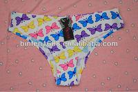 Hot Selling One Piece Butterfly Print Women Sexy Inner Wear
