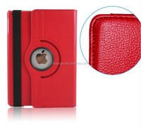 2015 New design Lychee Pattern Folder 360 Degree Rotation Leather Case for ipad air 2 leather case alibaba china