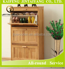 Hot sale high quality Three shelf cabinet adjustable shoes rack ,wooden shoes cabinet