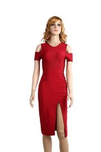 side cut out party bandage red mexican evening dress