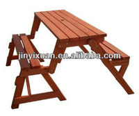 Two functional picnic table bench / Two in one combination table& bench / outdoor folding bench