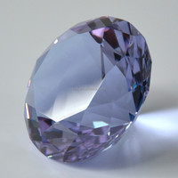 Birthday giveaways purple crystal diamond paperweight 60mm wedding favors