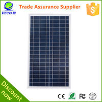 18V 100W poly solar panel for small home system