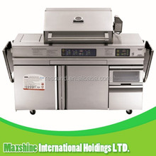 Villa Smokeless grill thickened stainless steel gas grill, fridge grill