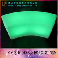 Hot Selling Wonderful Decoration Night Culb LED Flash Furniture For Beautiful Design LED Chair Color Change Fashion Garden Bench
