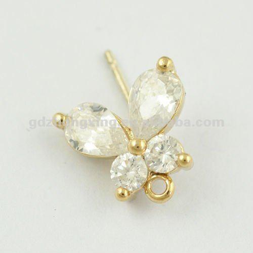 gold earrings new design butterfly earrings with