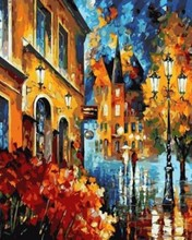 oil painting by numbers abstract city landscape acrylic handmaded painting on canvas GX6995 paintboy brand