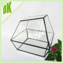 \\ Handmade Gold jewelry box Gifts - Painted Glass Jewelry Case Organizer Storage \\ glass wooden plastic storage box with lock