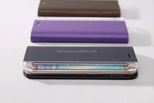 Aplus card pocket PC+PU leather flip for Samsung S6 edge case