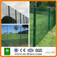 China supplier Plastic double twin wire welded mesh fence