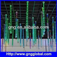 Decorate nightclub dmx rgb vertical led icicle tube light