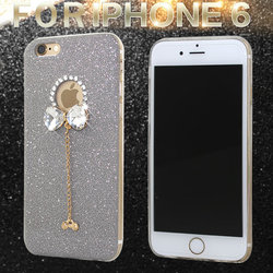 New 3D Bling Luminous Diamond Rhinestone Butterfly Silicone TPU phone Case For iphone 6 6s 4.7inch