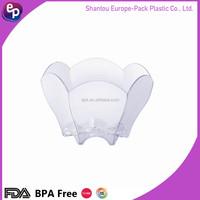 New design beautiful shape disposable tableware cups plastic tulip glass