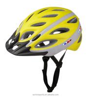 2015 Hot sale LED light bike helmet with visor