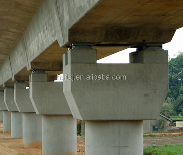Elastomeric Bearing Rubber Bridge Bearing Pad For Highway
