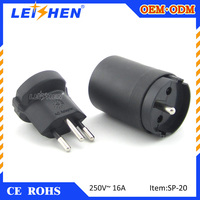 Swiss Plug Adapter/Switzeland plug Converter to hungary/luxembourg with FCC approval