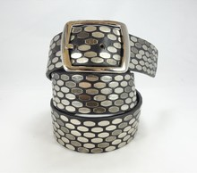 NEW Fashion High Quality Genuine revit studded metal nail decorative leather belt
