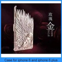 Wholsale Electroplated Angel Wings Hard Case Cover For iphone6/6plus