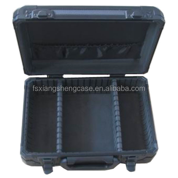 Black aluminum Tool Case Type Aluminum tool box with compartments