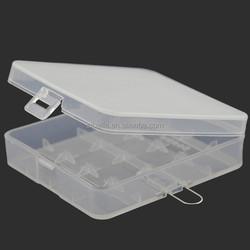 18650 battery holder plastic case transparent 4*18650 battery plastic battery case