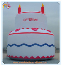 Factory price giant inflatable birthday cake,cake shape inflatable model for advertising to sale