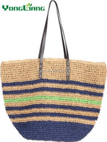 Fashion New Design Crochet Paper Straw Handmade Bag