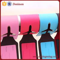 Desimon 2015 Customized plane logo wholesale leather luggage tag