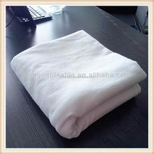 plain wholesale 100% cotton white flannel fabric