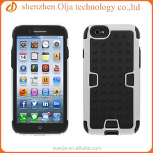 Olja durable silicone+pc phone case for iphone, factory price cellular case for iphone 6