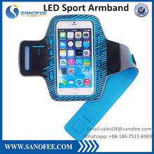 wholesale alibaba led armband case for iPhone 6 neoprene led armband