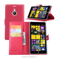 Hot Selling Plain Texture Flip Leather Case For Nokia Lumia 1520 With Many Colors
