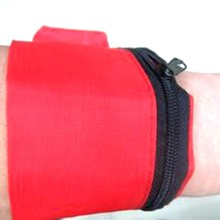 Newest Red Light Weight Nylon Wrist Pouch