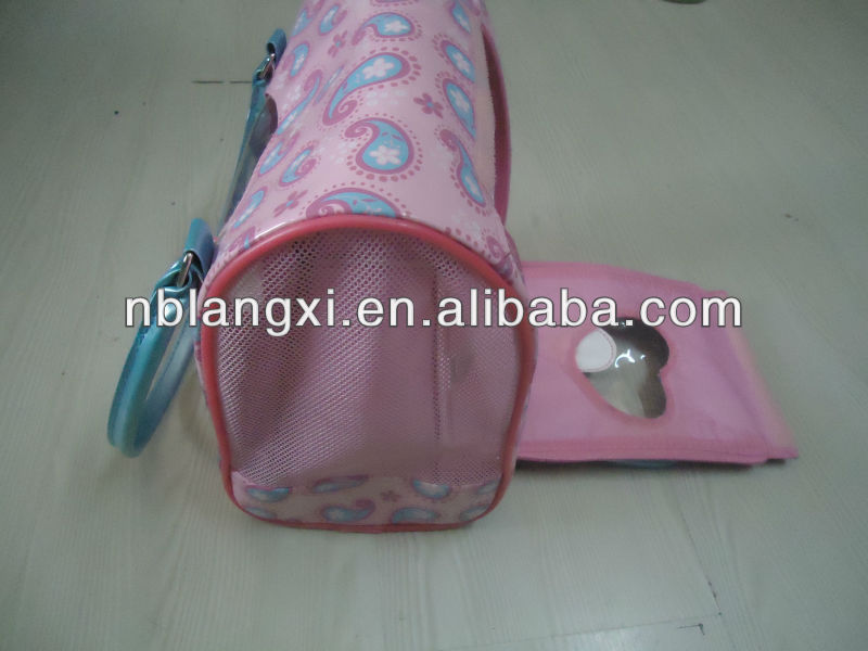 Cute Pink Pet Carrier LX-PP-1304C,Small Dog Carrier,Cat Carrier