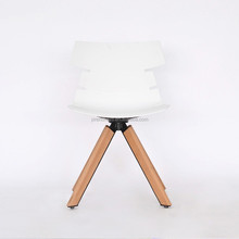 plastic dining chair with wood leg/dining room home furniture