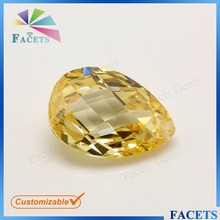 2015 Hot New Products Wholesale Pear Shaped Faceted Yellow Topaz Gemstone Price Buy Online