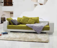 Modern Top Design Leather Sofa With Fabric Cushions Half Fabric Half Leather Sofa Leather Fabric
