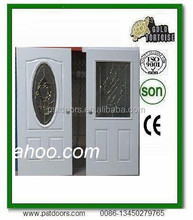 entry door with double layer glass half lite model , made in China