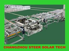 PV solar cell module panel automatic framing assembly line production line